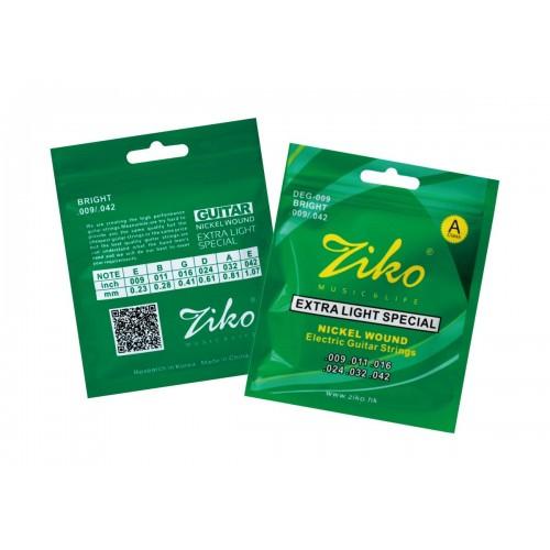 Encordoamento Ziko 0.09 para Guitarra