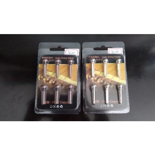 Pino Cravo Marrom ou Cromado Kit com 6 unidades