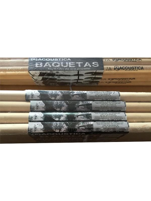 Baqueta 5A e 7A Acoustica em Maple