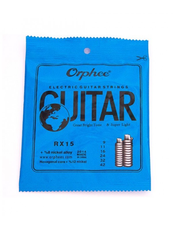 Encordoamento Orphee RX – 15 Guitarra 0.09