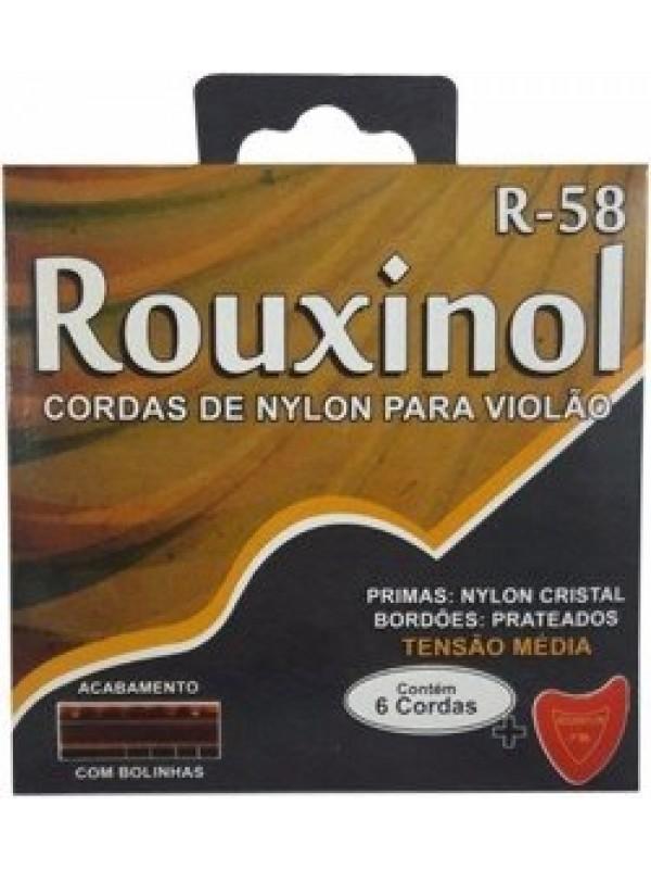 Encordoamento Rouxinol Violão Nylon T.media C.bolinha R-58