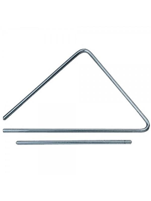 Triângulo Médio Aço Inox 30cm Com Baqueta